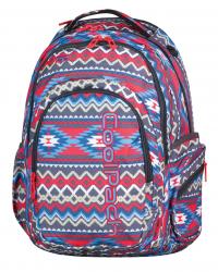 Plecak szkolny młodzieżowy COOLPACK SPARK 2 w kolorowe wzory, BOHO BEIGE 802 (74872)