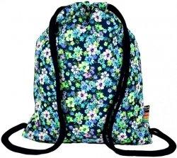 Plecak Worek na sznurkach w kwiatuszki FLOWERS GREEN ST.RIGHT SO11 (13661)