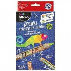 Kredki ołówkowe trójkątne grube 12 kolorów EKO KIDEA (KTGE12KA)