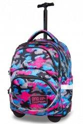 Plecak CoolPack STARR na kółkach różowe moro, CAMO FUSION PINK (B35093)
