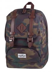 Plecak szkolny, miejski młodzieżowy COOLPACK CITY w zielono-brązowe moro CAMOUFLAGE 1023 (72229)