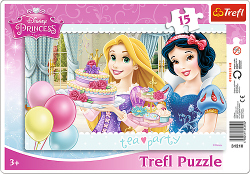 TREFL Puzzle Ramkowe 15 el. Księżniczki, Przyjęcie (31210)