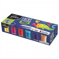 Farby plakatowe MAŁE POJEMNIKI 12 kolorów KIDEA (FP12KMKA)
