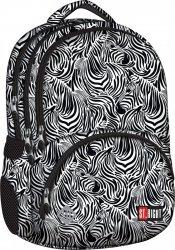 Plecak szkolny młodzieżowy ST.RIGHT w czarno białe wzory ZEBRA BP7 (18260)
