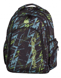 Plecak szkolny młodzieżowy COOLPACK MAXI niebiesko - żółte zygzaki, LIGHTNING 759 (73639)