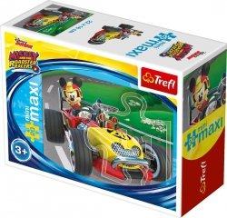 TREFL Puzzle miniMaxi 20 el. Miki i raźni rajdowcy, Myszka Mickey (21024)