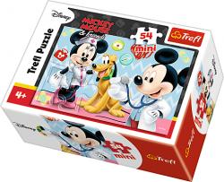 TREFL Puzzle mini 54 el. Myszka Mickey, Lekarz (19552)