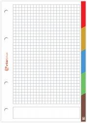 Wkład do segregatora A4 50 kartek z registrami (77292)