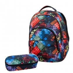 ZESTAW 2 el. Plecak CoolPack BASIC PLUS w kolorowe bloki, BLOX (B03014SET2CZ)