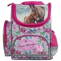 Tornister szkolny ergonomiczny I LOVE HORSES Konie (TEMBKO18)