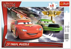 TREFL Puzzle Ramkowe 15 el. Cars Auta, Wyścig po puchar (31230)