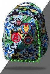Plecak wczesnoszkolny CoolPack LED JOY S z naszywkami AVENGERS BADGES (B47308)