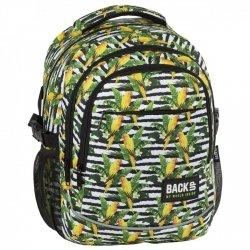 Plecak szkolny młodzieżowy BackUP w papugi, PARROTS (PLB2G68)