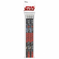 Ołówek z gumką STAR WARS Gwiezdne wojny 4 szt. (OG4SW18)