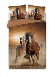 Pościel bawełniana HORSES Konie 160 x 200 cm komplet pościeli (50074)