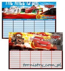 Plan lekcji Cars - Auta, licencja Disney (PLNCA)