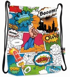 Plecak Worek na sznurkach COMICS komiksowy wzór ST.RIGHT SO11 (19915)