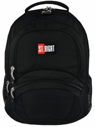 Plecak szkolny młodzieżowy ST.RIGHT czarny BLACK BP05 (19076)