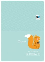 Zeszyt A5 w kratkę 16 kartek B&B SQUIRREL wiewiórka (55549)