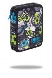 Piórnik CoolPack dwukomorowy z wyposażeniem JUMPER XL piłka nożna, FOOTBALL (C77230)