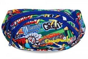SASZETKA NERKA CoolPack na pas torba ALBANY w kolorową kreskówkę, FOOTBALL CARTOON (B75036)