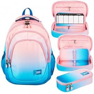 ZESTAW 2 el. Plecak szkolny młodzieżowy ST.RIGHT ombre, LIGHT OMBRE BP6 (26609SET2CZ)
