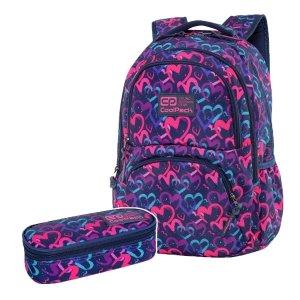 ZESTAW 2 el. Plecak CoolPack DART 27 L serca, DRAWING HEARTS (C19141SET2CZ)