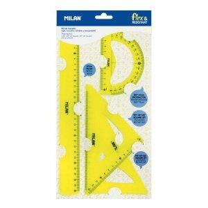 Zestaw geometryczny 4 el. ACID Milan 30 cm żółty (359801Y)
