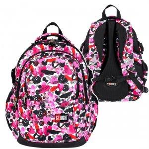 Plecak szkolny młodzieżowy ST.RIGHT w serca, HEARTS BP1 (25992)