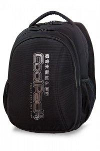 Plecak CoolPack JOY XL czarny ze srebrnymi dodatkami, SUPER SILVER (A22118)