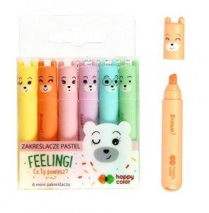 Zakreślacze mini pastel LAMY 6 kolorów HAPPY COLOR (38938)
