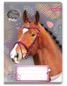 Zeszyt A5 w trzy linie 16 kartek NICE AND PRETTY Konie HORSES mix (94609)