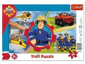 TREFL Puzzle Ramkowe 15 el. Dzień Strażaka Sama STRAŻAK SAM (31351)