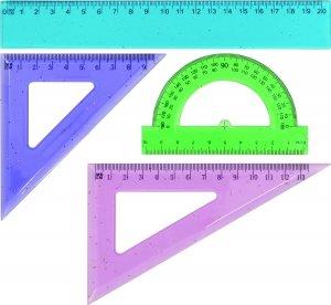 Zestaw geometryczny brokatowy 4 elementy 20 cm GRAND (130-1024)