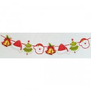 Girlanda papierowa świąteczna DZWONKI CZAPKA CHOINKA MIKOŁAJ (933-3)
