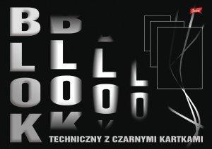 Blok techniczny A3 CZARNY czarne kartki (21023)