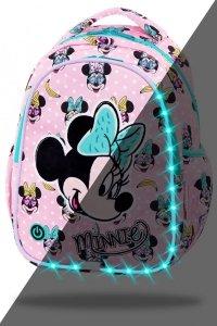 ZESTAW 2 el. Plecak wczesnoszkolny CoolPack LED JOY S Myszka Minnie, MINNIE MOUSE PINK (B47302SET2CZ)