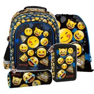 ZESTAW 4 el. Plecak szkolny Emoji EMOTIKONY (PL15BEM12SET4CZ)