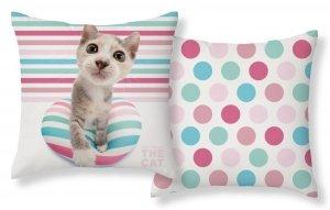 Poszewka na poduszkę 3D THE CAT 40 x 40 cm (CAT08)