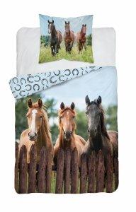 Pościel HORSES Konie Koń 140 x 200 cm komplet pościeli (3628A)