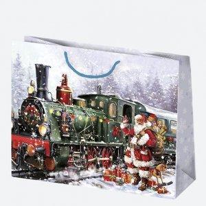 Torba torebka na prezent świąteczna MIKOŁAJ Maxi (T8_GW_29)