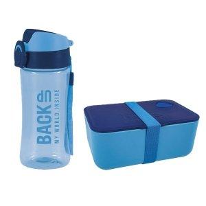 Zestaw bidon i śniadaniówka BackUP niebieski (BB3A+SBA58)