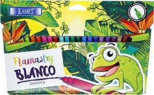 Pisaki zmywalne flamastry BIANCO 24 kolory KAMET (04019)