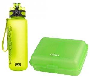 Zestaw bidon i śniadaniówka CoolPack BRISK FROZEN 2 green (95259+Z03990)