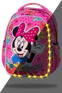 Plecak wczesnoszkolny CoolPack LED JOY S Myszka Minnie, MINNIE MOUSE TROPICAL (B47301)