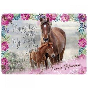 Podkładka laminowana I LOVE HORSES Konie (PLAKO08)