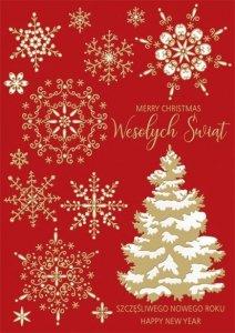 Kartka świąteczna firmowa BOŻE NARODZENIE 12 x 17 cm + koperta (47551)