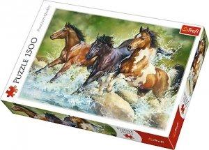 TREFL Puzzle 1500 el. Trzy dzikie konie (26148)