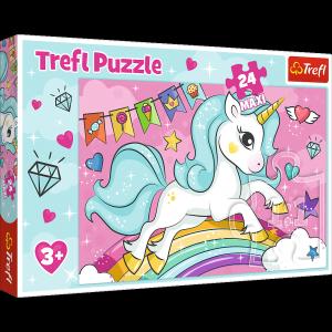 TREFL Puzzle MAXI 24 el. UNICORN Słodki jednorożec (14302)
