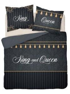 Pościel bawełniana 220 x 200 cm HOLLAND COLLECTION Queen & King komplet pościeli (3601A)